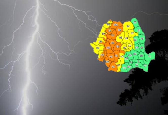 Update (19 iulie):Mai mult de jumătate de țară, din nou, sub atenționare de furtună