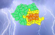 Revin furtunile! Cod portocaliu de vijelie, ploi și grindină (12-13 iulie)