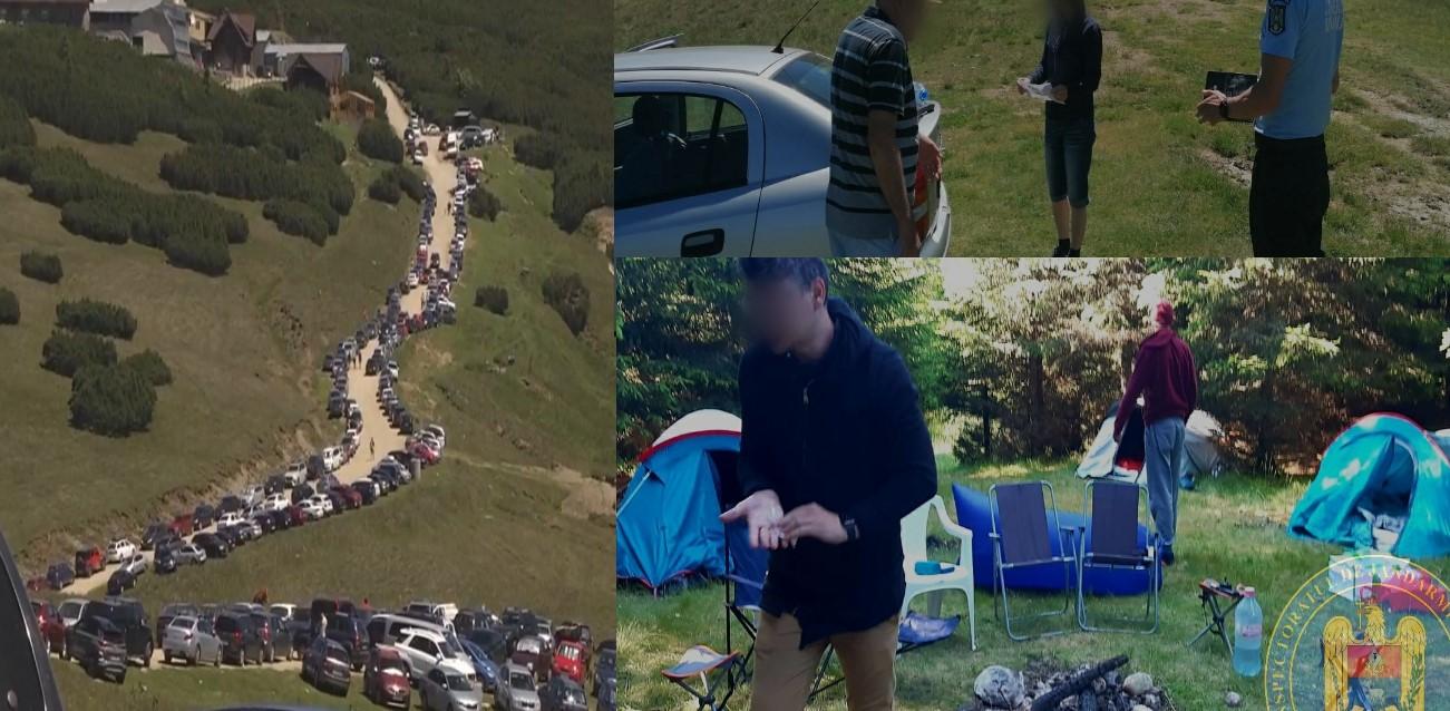 (Foto) Orășenii s-au mutat la munte (Bucegi). Au avut parte însă și de surprize, neplăcute.