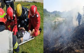 Mai puțin obișnuit. Pompierii din Moreni-intervenții la foc automat, în doar câteva ore. Un bărbat rănit în accident și un foc de vegetație, între misiunile zilei