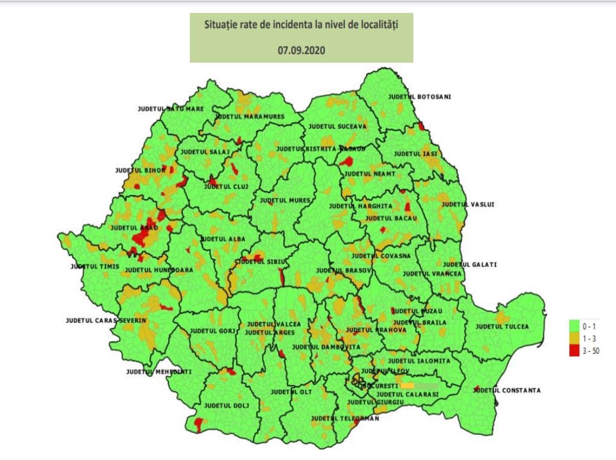 Cum începe școala în România. Trei scenarii (roșu, galben, verde). În DB, la Gura Foii și Moțăieni zone roșii