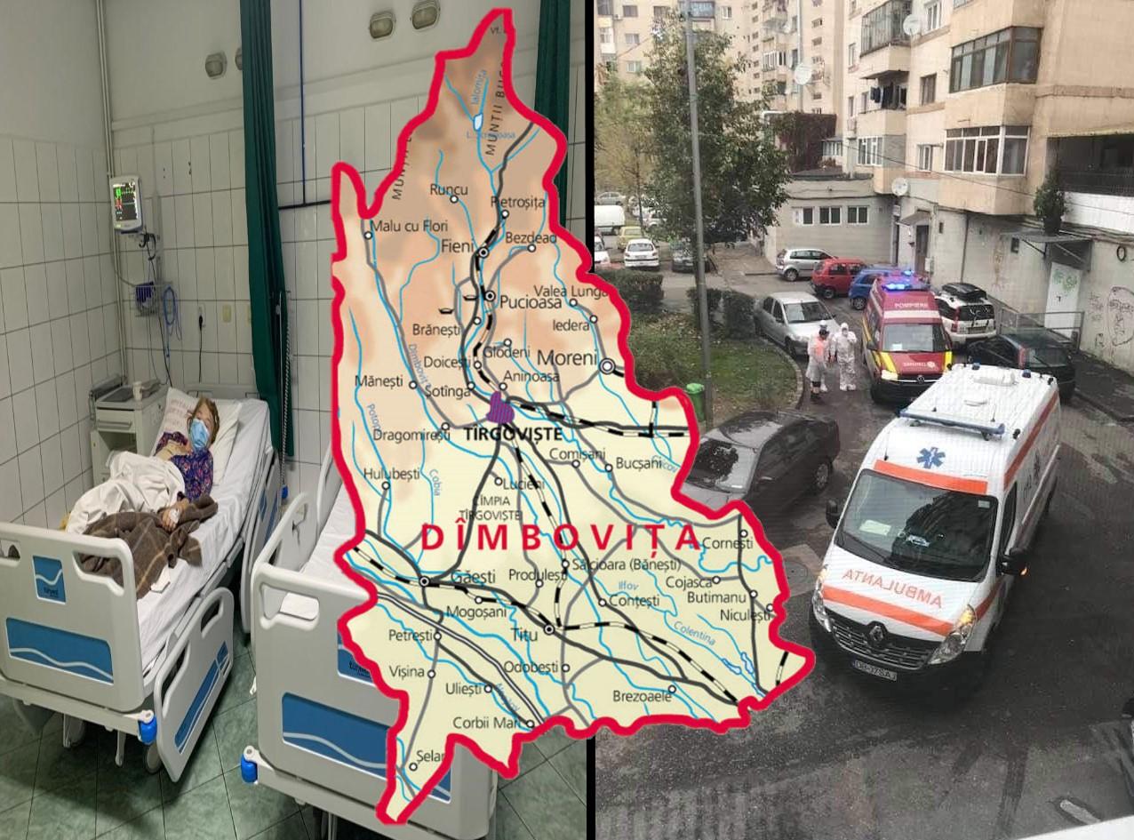 SARS-CoV-2: Record de cazuri noi în Dâmbovița - 238. Trei localități au