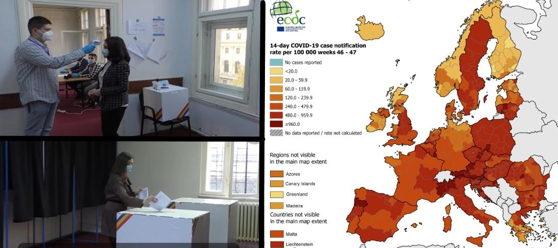 România în zodia votului (6 decembrie). Care sunt șansele să te îmbolnăvești (date și statistici pandemie COVID-19)