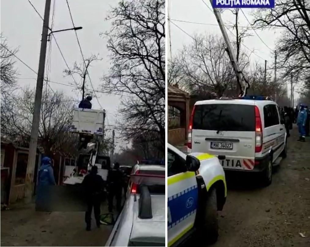 (Video) Intervenție în forță (19 dec.), la Bălteni, județul Dâmbovița, la