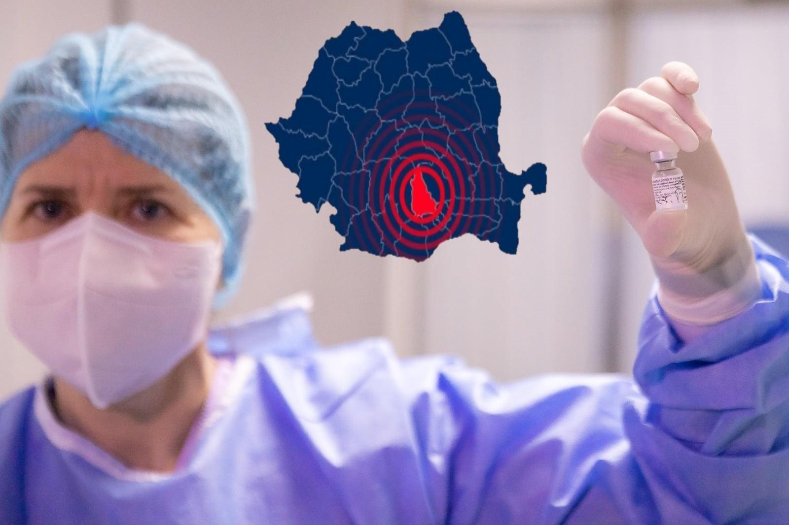 DB - Situație epidemie COVID-19: 9 localități în scenariul roșu, 2215 persoane vaccinate până acum (Toate datele- 13 ianuarie)