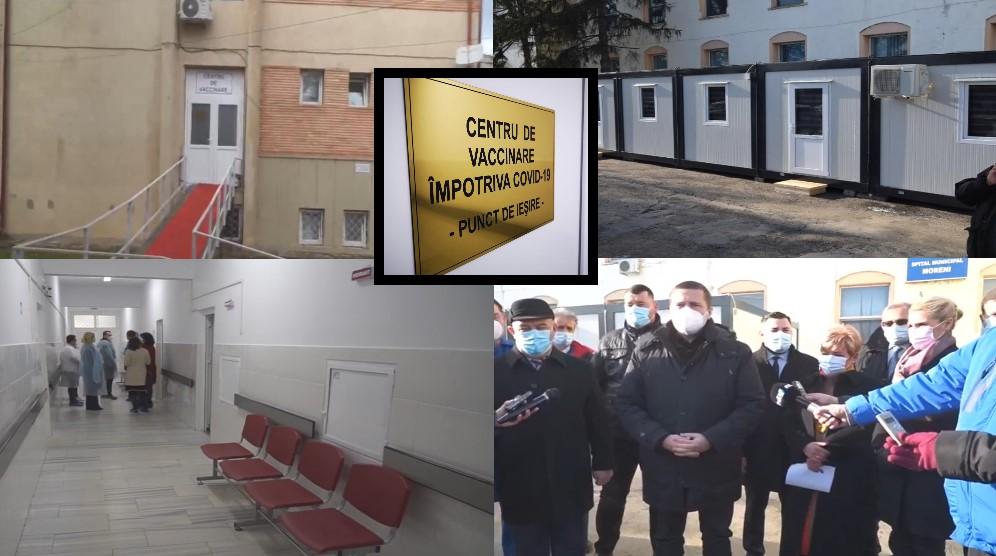 Aglomerație la vaccinarea anti COVID-19, de la Târgoviște. Apel al SJUT. La  Moreni (spital) containerele de triaj vor fi transformate în centru de vaccinare