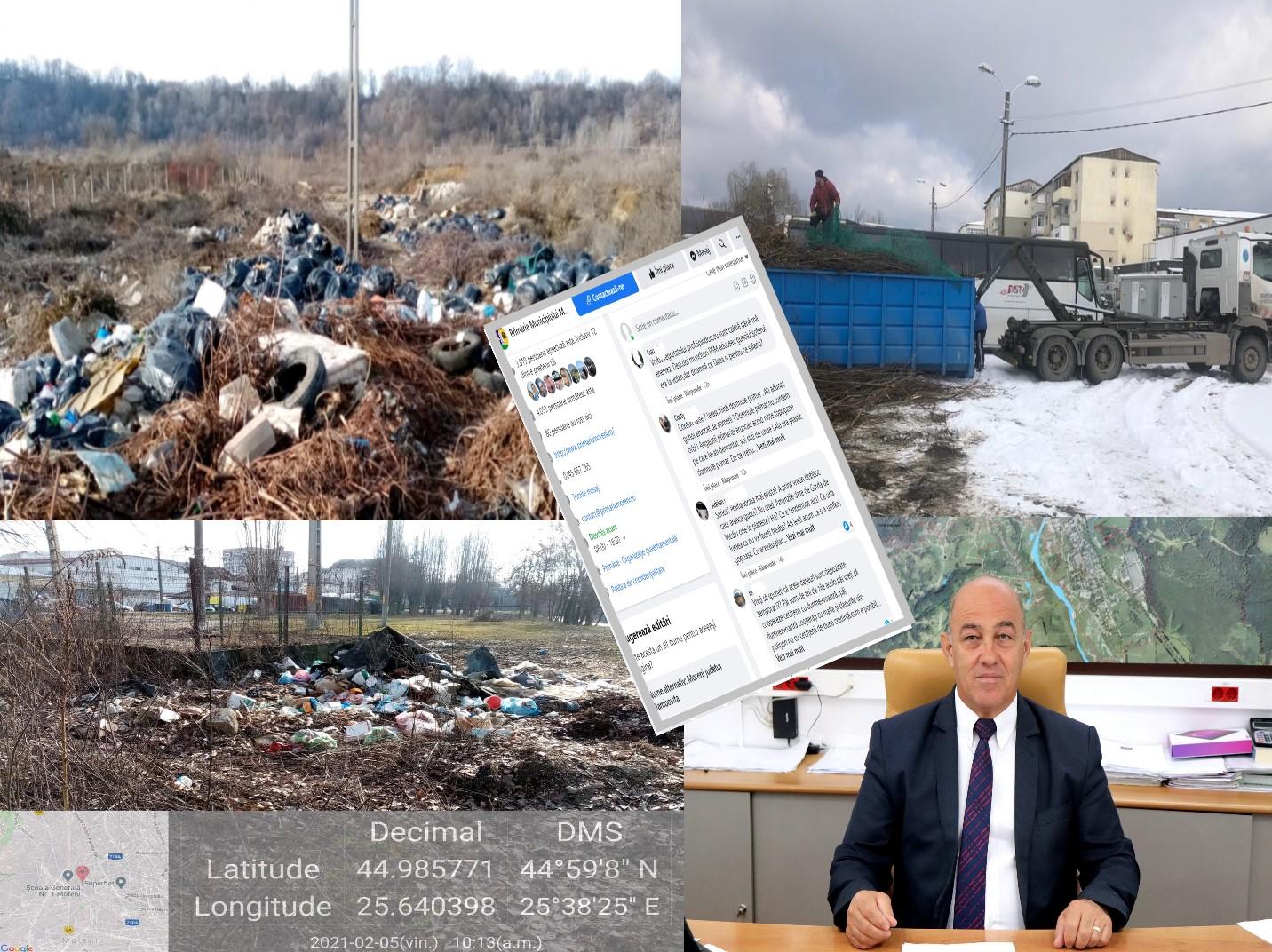 Penibil! Primăria Moreni dă vina pe presă și pe locuitorii municipiului...pentru gunoiul