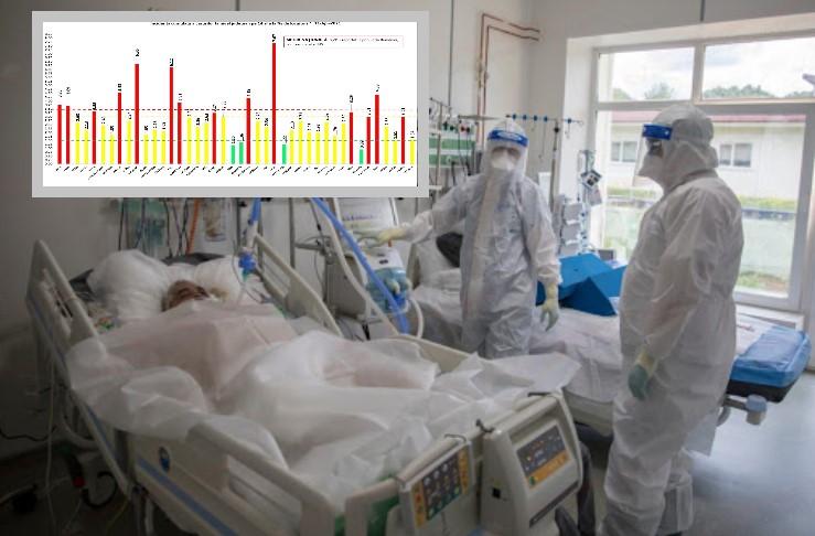 Am ajuns și aici - 1531 de pacienți la ATI (record absolut). Sute de pacienți așteaptă un loc la aparate. Date 11 aprilie (covid-19), Dâmbovița