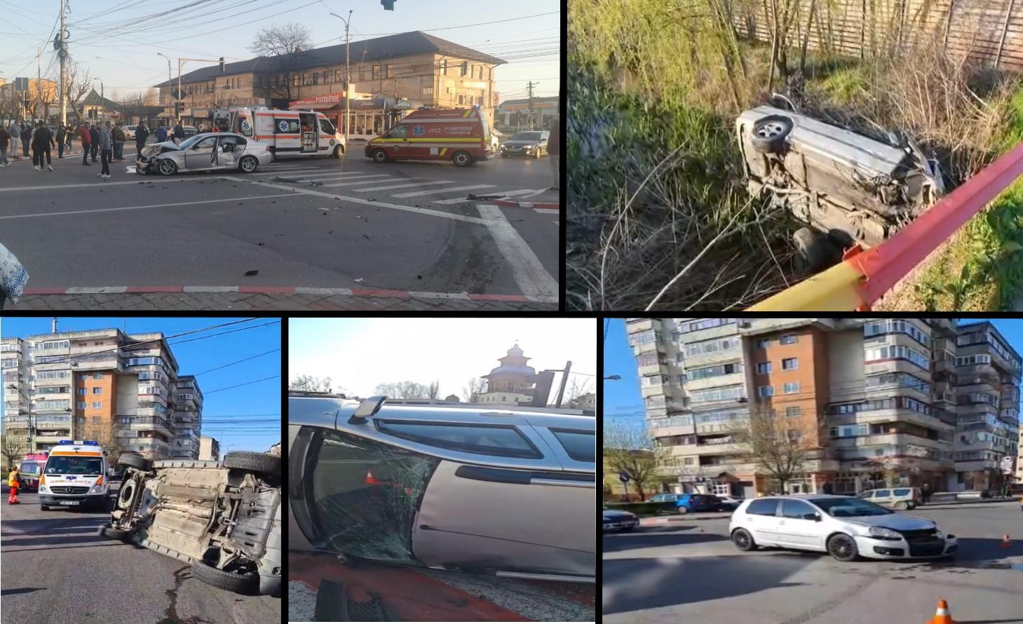 Îngrijorător! Accidente în valuri, în Dâmbovița, provocate de tineri șoferi (10-11 aprilie 2021)