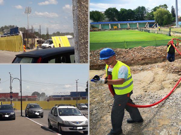 (Foto-Video) Pe șantierul stadionului de la Târgoviște se aud… doar pickamerele. Ce spune Primăria Târgoviște despre proiect