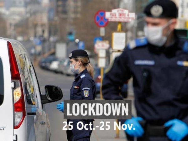 """România intră în """"logica lockdown"""", din 25 octombrie! Hotărâre CNSU. Care sunt restricțiile (document)"""